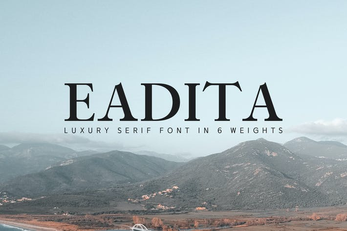 Thumbnail for Eadita Luxury Serif Font Family