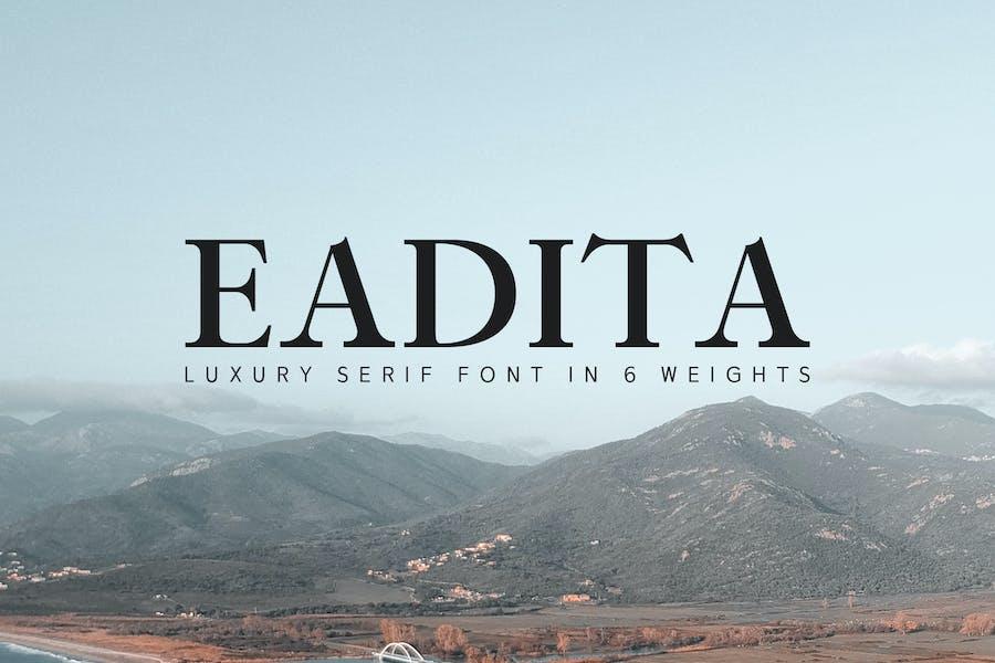 Eadita Luxury Con serifa Familia tipográfica