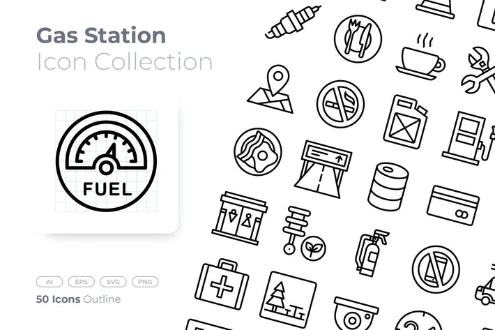 Gas Station Outline Icon