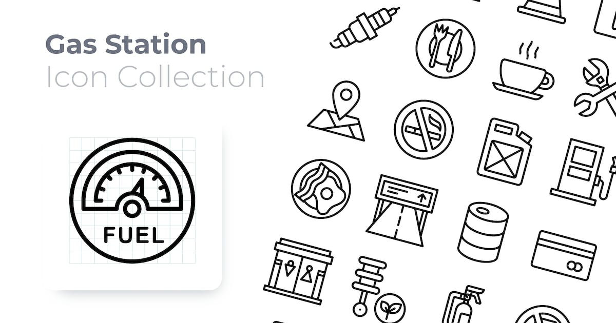 Download Gas Station Outline Icon by GoodWare_Std