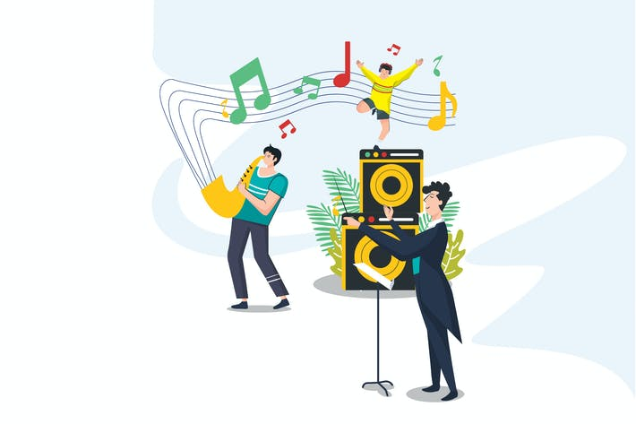 Thumbnail for Music Live Concert From Home Illustration