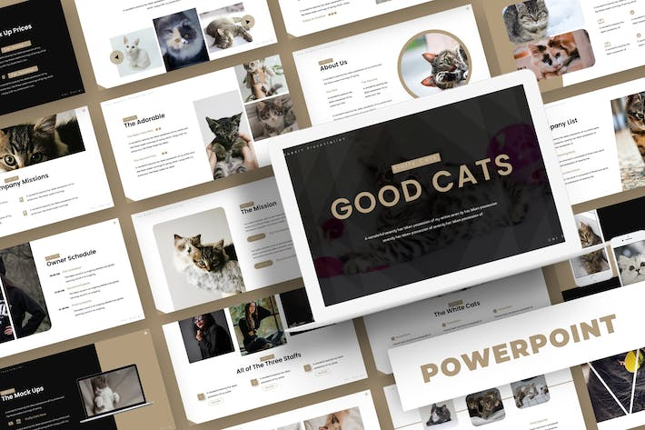 Cover Image For Good Cat- Powerpoint Template