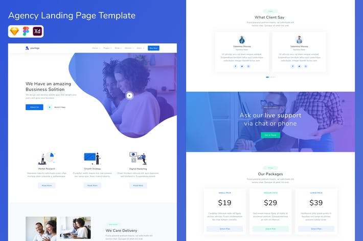 Thumbnail for Agency Landing Page Template