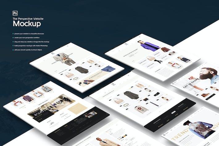the perspective website mockup by kl webmedia on envato elements. Black Bedroom Furniture Sets. Home Design Ideas