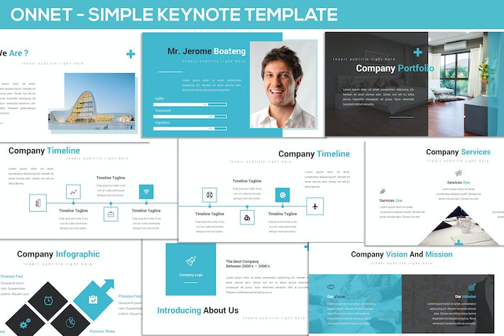Thumbnail for Onnet - Simple Keynote Template