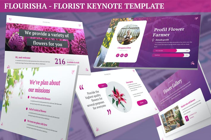 Thumbnail for Flourisha - Florist Keynote Template