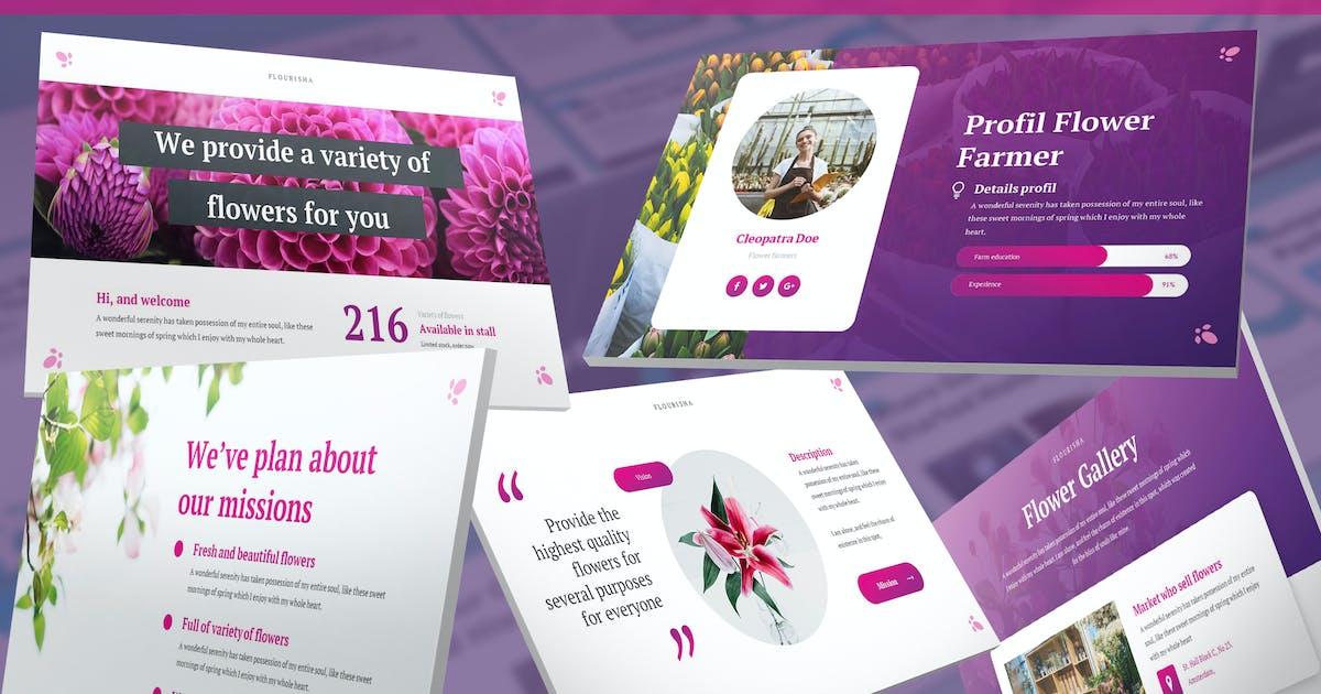 Download Flourisha - Florist Keynote Template by SlideFactory