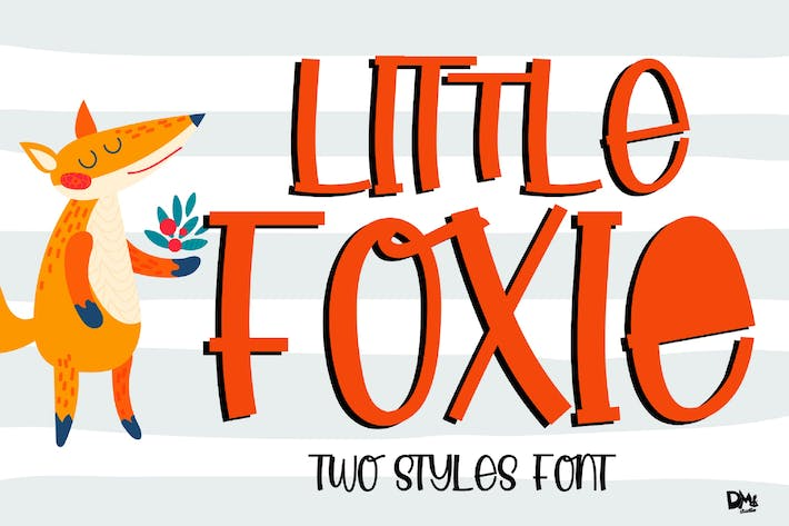 Thumbnail for Little Foxie - Display Font