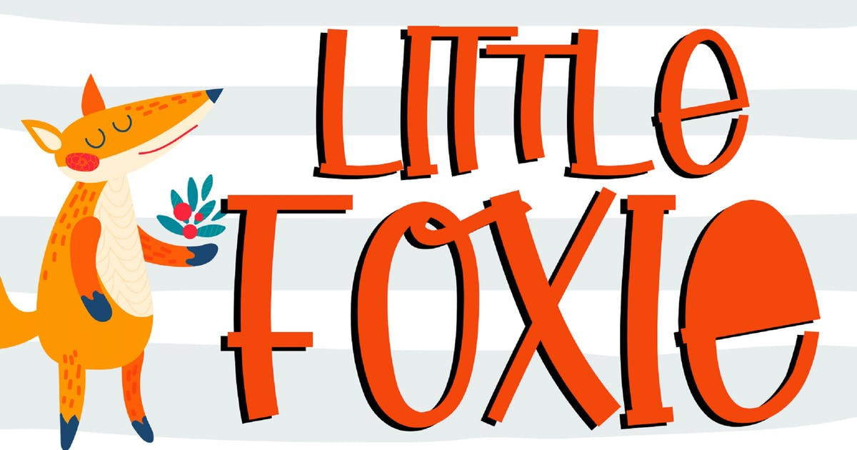 Download Little Foxie - Display Font by DmLetter