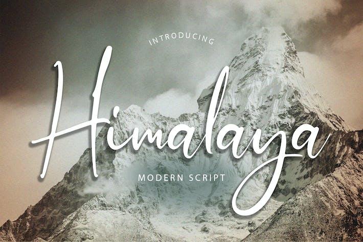 Thumbnail for Himalaya Modern Script Font