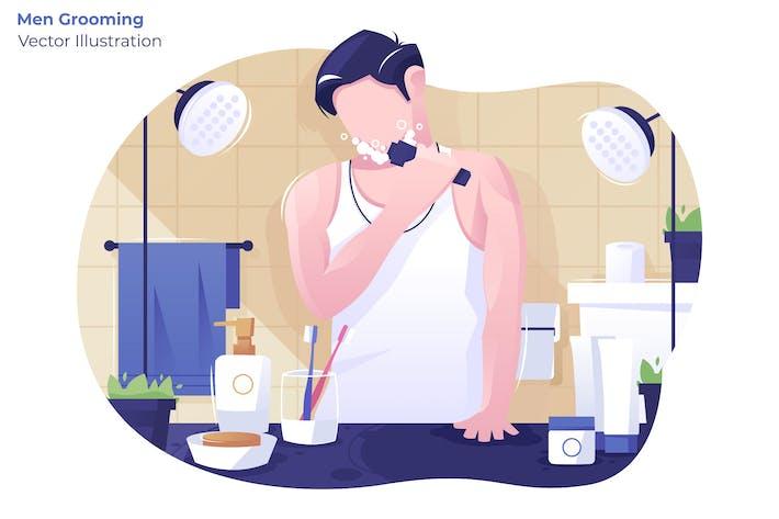 Thumbnail for Men Grooming - Vector Illustration