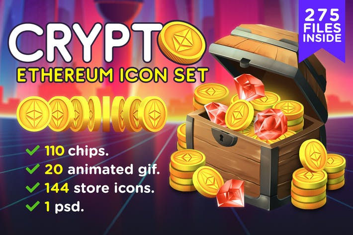 Thumbnail for CRYPTO - Pack d'icônes Ethereum