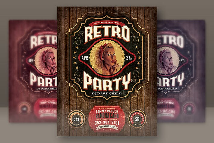 Thumbnail for Retro Party Flyer Template