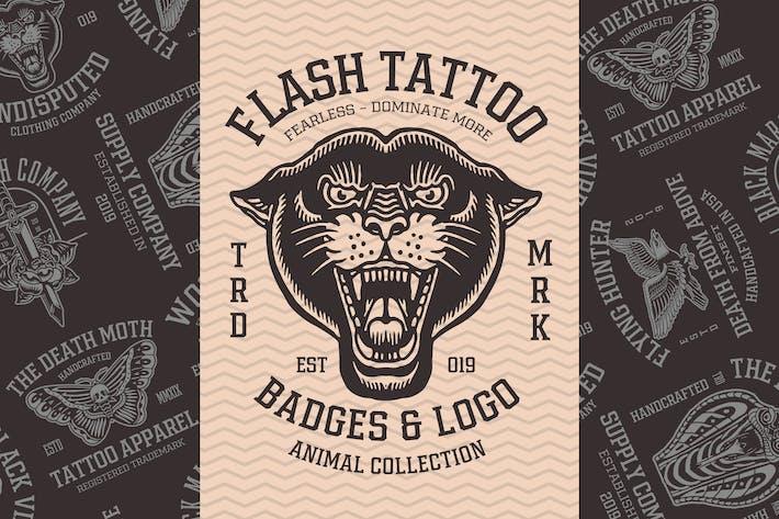 Thumbnail for Badges Flash Tattoo