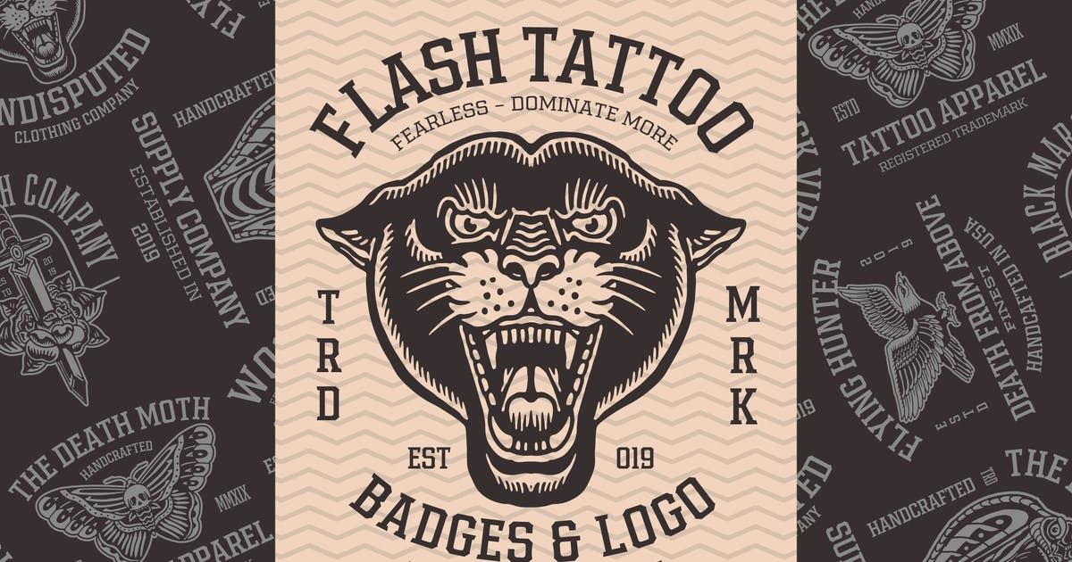 Download Badges Flash Tattoo by ilhamherry