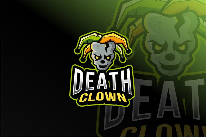 Thumbnail for Death Clown Esport logo Template