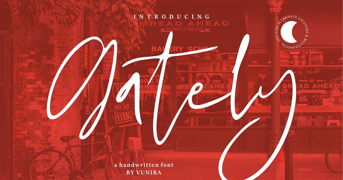 Download Gately | A Handwritten Font by Vunira