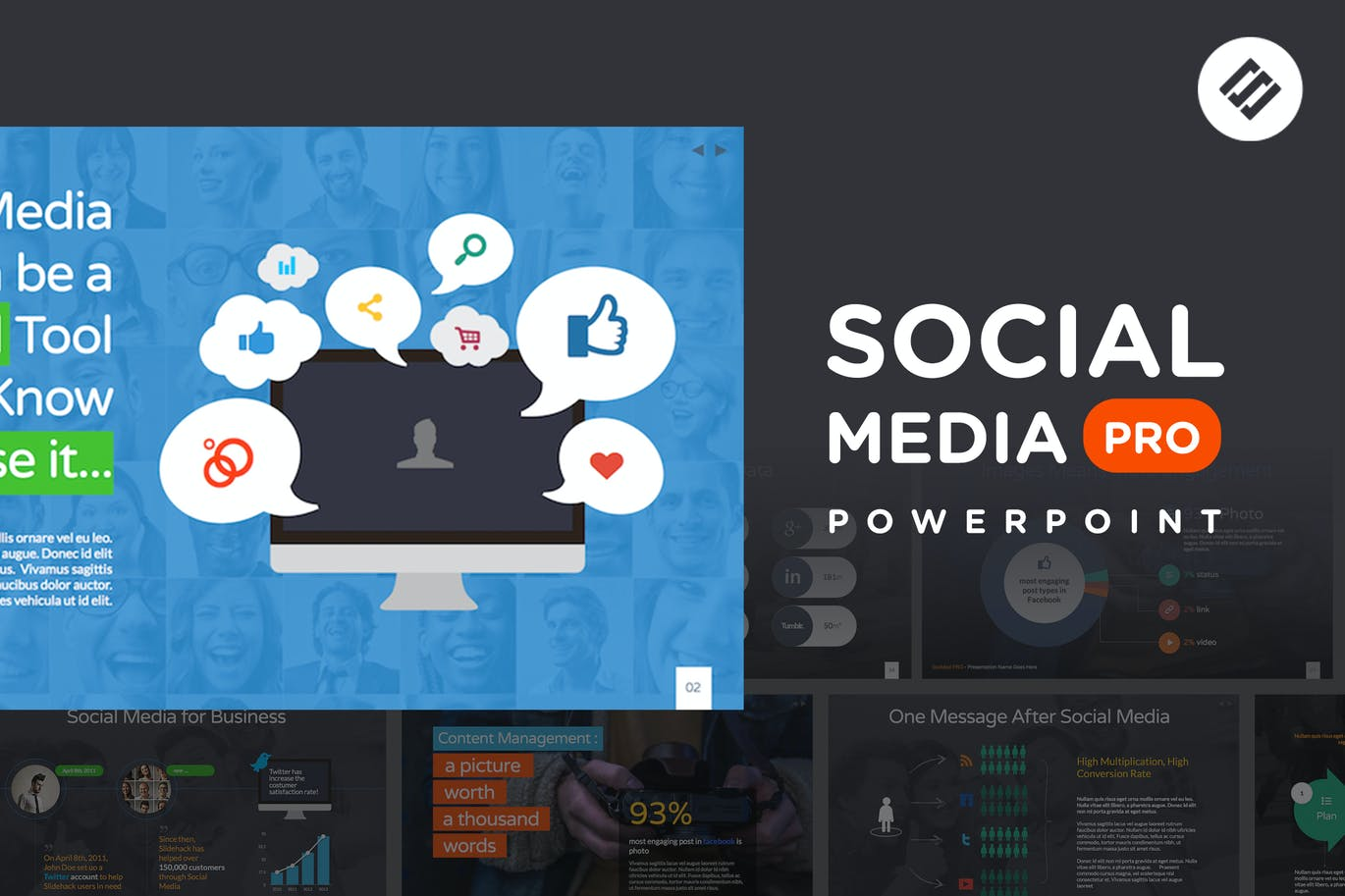 Social Media PRO - Powerpoint Template by Slidehack on Envato Elements