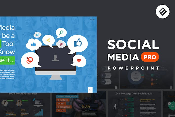 Social media pro powerpoint template by slidehack on envato elements social media pro powerpoint template toneelgroepblik Image collections