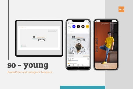 So young - powerpoint & Instagram Template