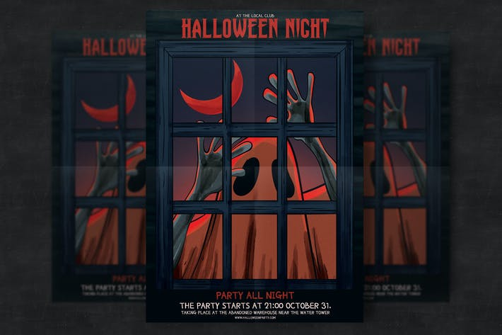 Cover Image For Halloween Party Flyer Template