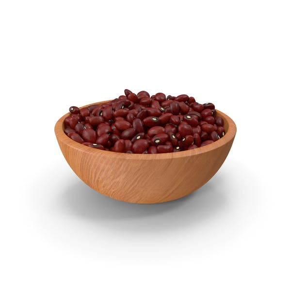 Full Bowl of Dark Red Kidney Beans