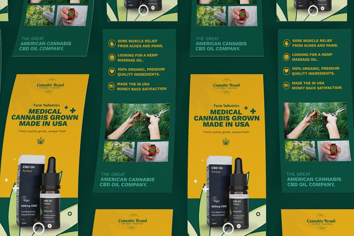 Thumbnail for Cannabis Hemp Oil Products DL Rackcard