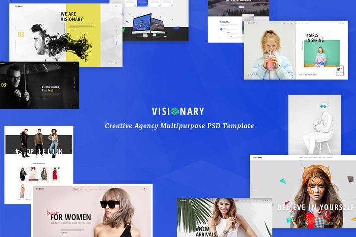 Thumbnail for Visionary - Creative Agency PSD Template