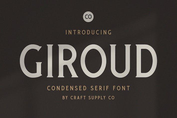 Thumbnail for Giroud - Condensed Serif Font