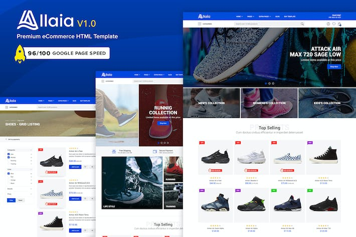 Thumbnail for Allaia - eCommerce HTML Template