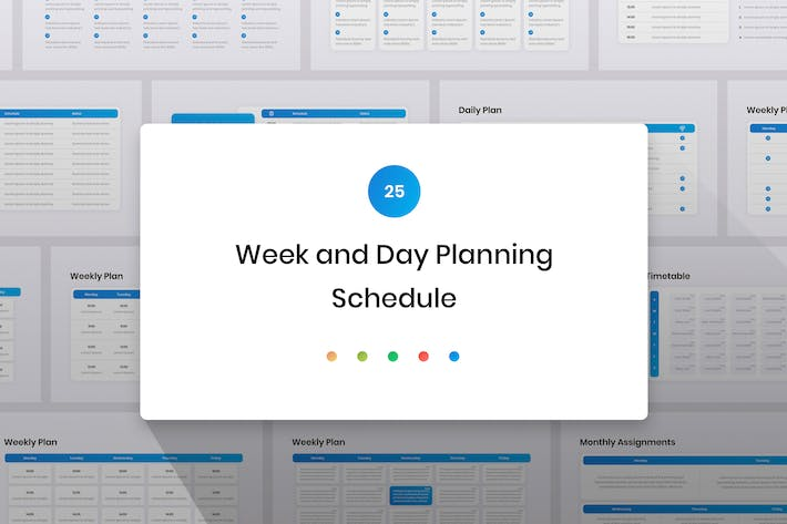 Thumbnail for Week and Day Planning, Schedule Google Slides