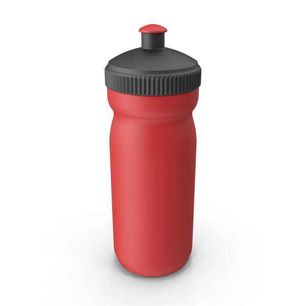 Red Sport Bottle with Black Cap