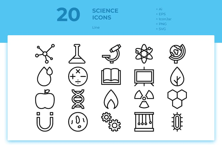 Thumbnail for 20 Science Icons (Line)