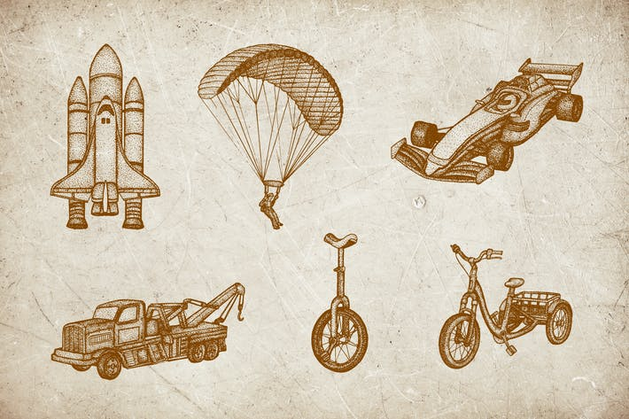 Thumbnail for Vintage Illustration - Vehicle V.7