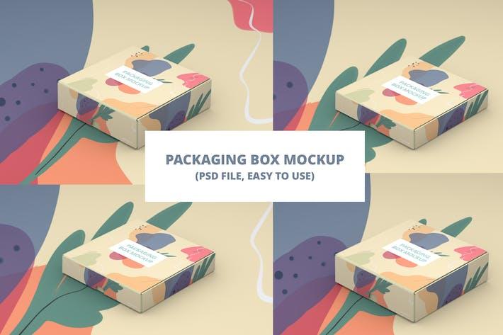 Verpackung Box Mokcup