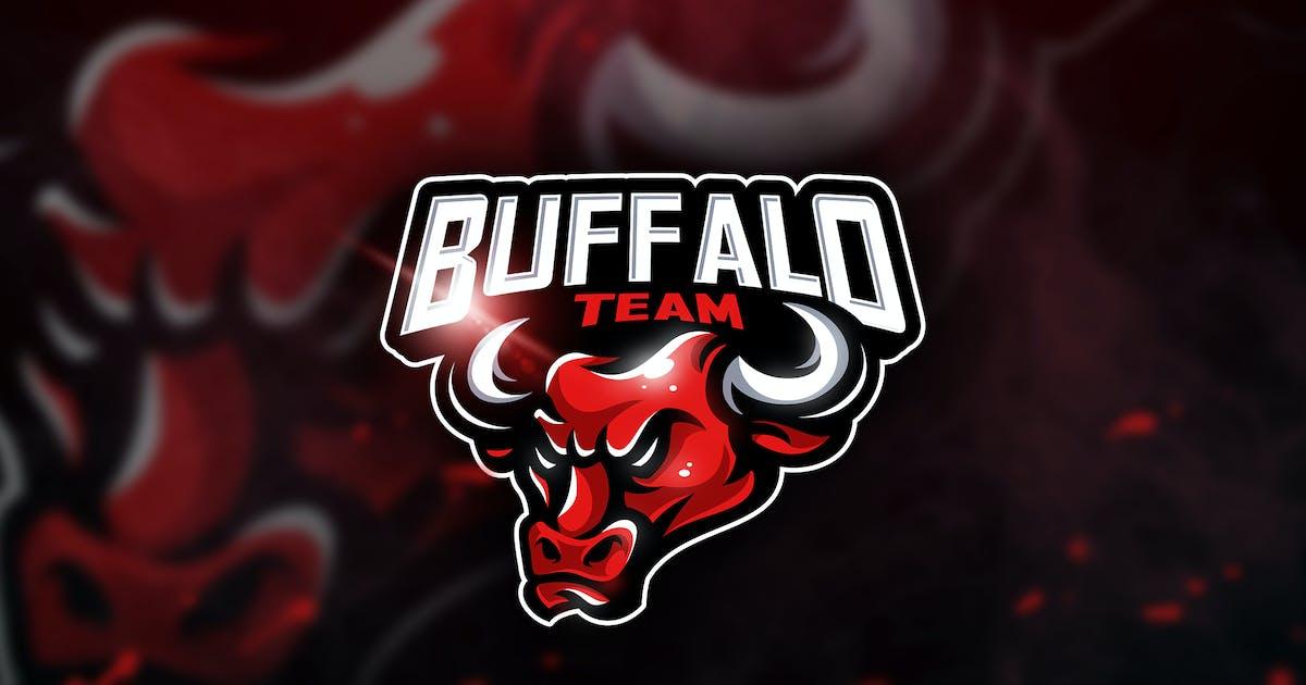 Download Buffalo Team - Mascot & Esport Logo by aqrstudio