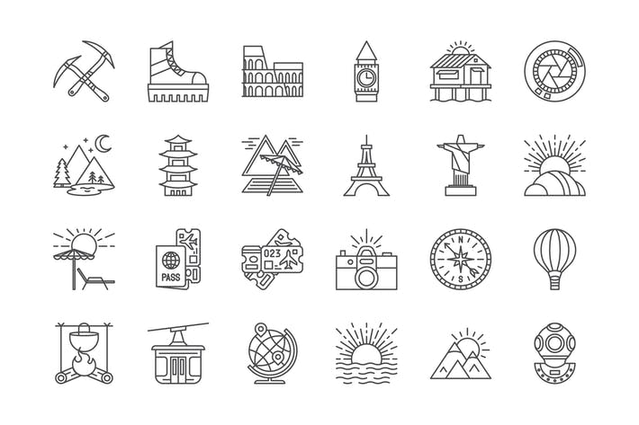 Thumbnail for 63 Travel Icons
