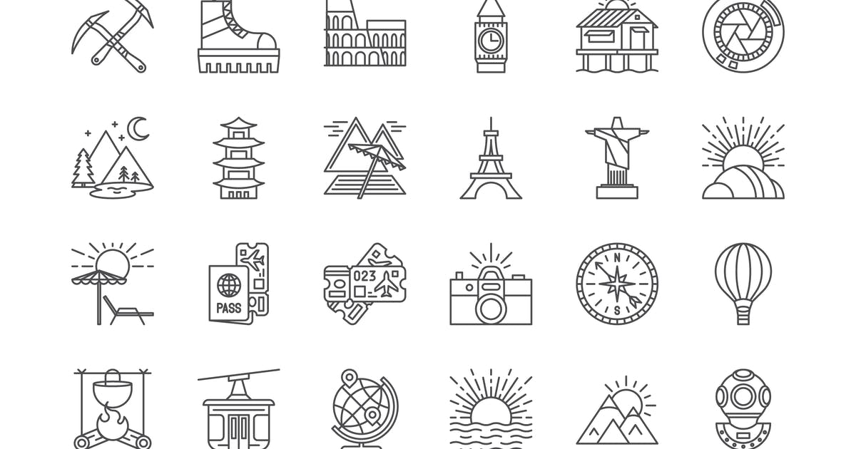 Download 63 Travel Icons by polshindanil