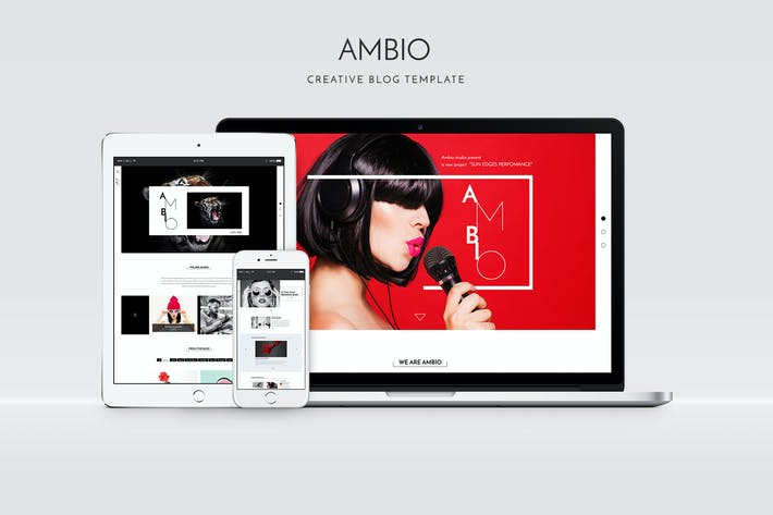 Thumbnail for Ambio — Unique Personal Blog | Magazine PSD Theme