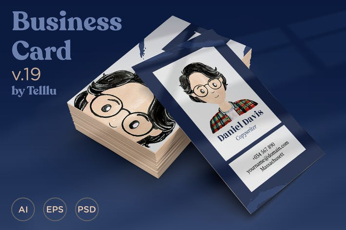 Cover Image For Business Card v.19 Watercolor with Avatar