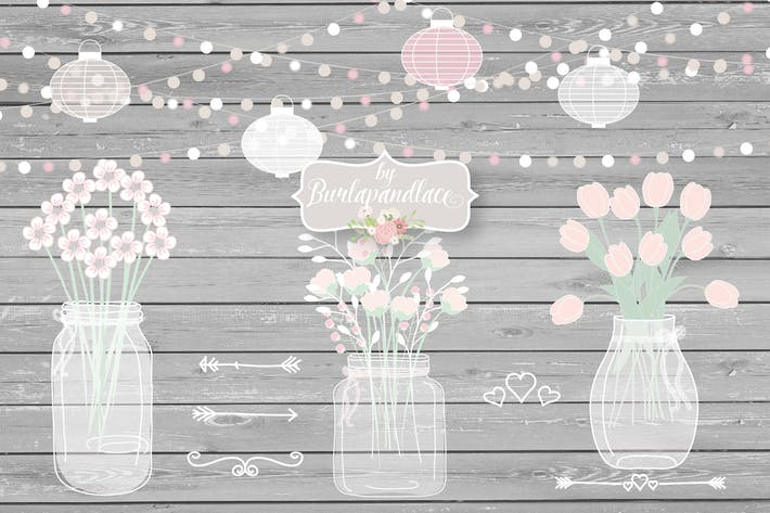 Thumbnail for Rustic Mason Jar Country Wedding