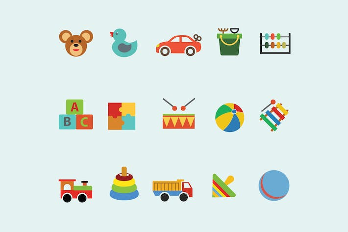 Thumbnail for 15 Children's Toy Icons