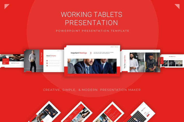 Thumbnail for Working Tablets - Powerpoint Template