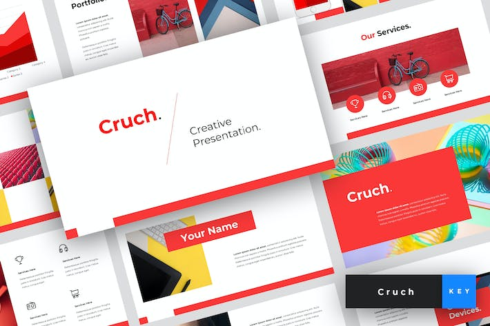 Thumbnail for Cruch - Creative Keynote Template