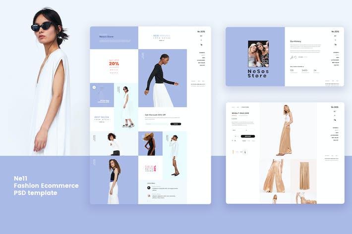 Thumbnail for Ne11 - Fashion Ecommerce PSD template