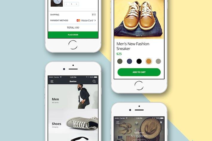 Thumbnail for Ecommerce App - Mobile UI Kit