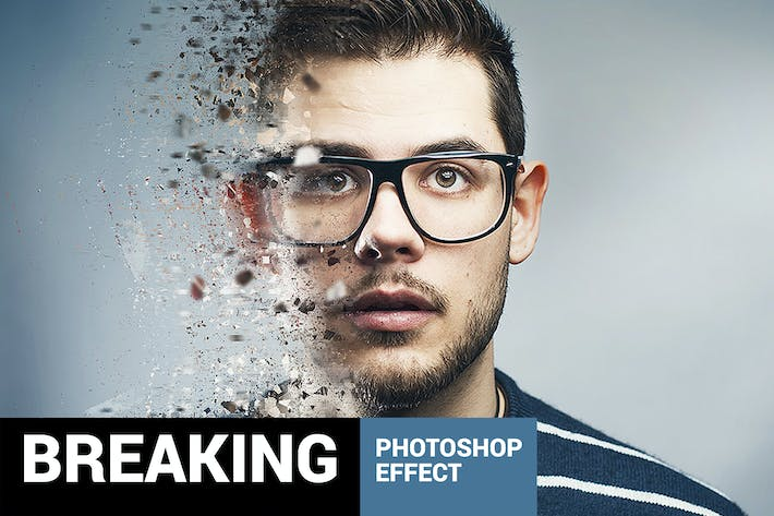 Thumbnail for Fragmentum - Digital Breaking Photoshop Action