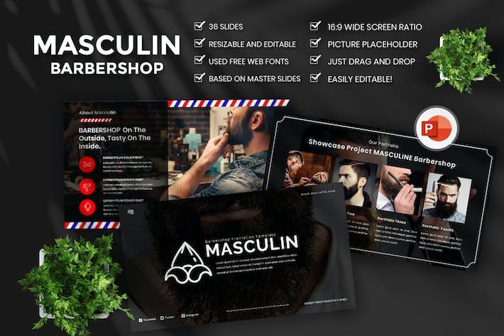 Masculine Barbershop PowerPoint