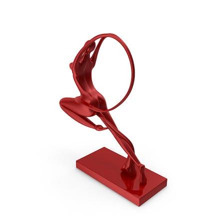 Statuette der Jungfrau Rot