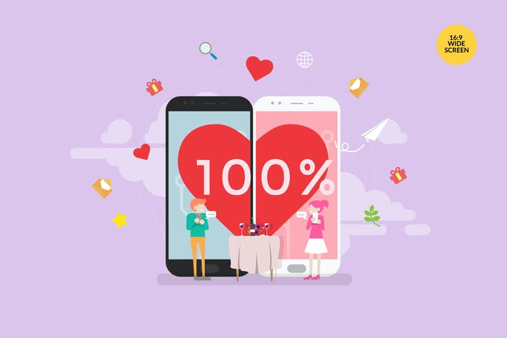 Thumbnail for Online Dating Vector Concept Illustration